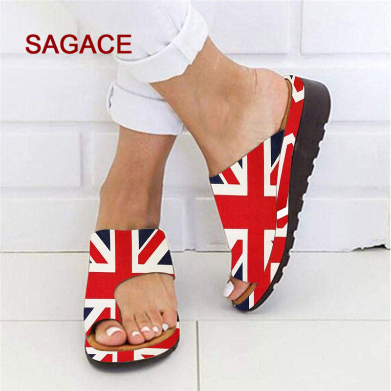 Fashion Slide Sandals American Flag Indoor /& Outdoor Slippers
