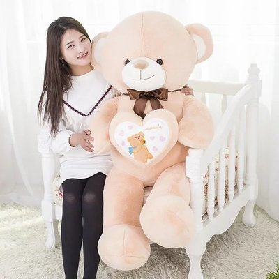 high quality goods , bowtie design love heart teddy bear large 120cm plush toy doll hugging pillow, Christmas gift x045 large 120cm teddy bear plush toy hug love heart plush bear doll soft throw pillow christmas birthday gift x046