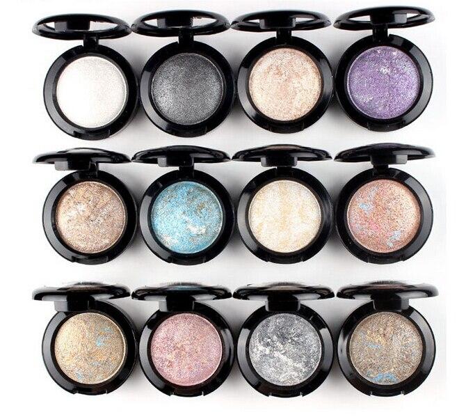 15 Color Long-lasting Single Baked Eye Shadow Powder Palette Shimmer Metallic Eyeshadow Palette Natural Cosmetics Maquiagem