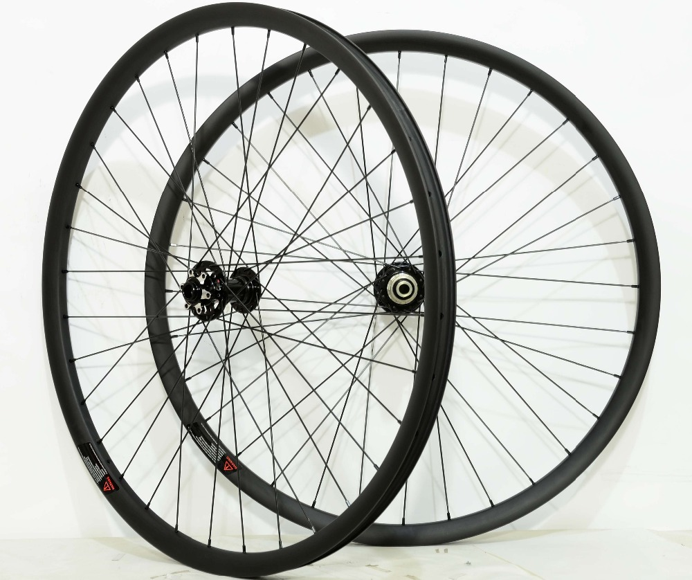 27.5ER  MTB XC hookless carbon wheels Tubeless ready 27mm width 25mm depth mountain bike XC wheelset with boost hub 29er 650b hookless carbon mtb wheelset width 30mm 35mm 40mm tubeless mountain bike thru axle wheelset front 12 100 rear 12 142
