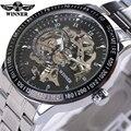 2016 Relógio dos homens Automáticos Relógios Mecânicos Vencedor de Luxo Da Marca Completa de Aço À Prova D' Água Masculino Business Casual Relógio de Pulso Relógios