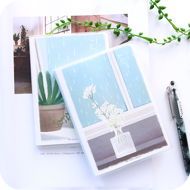 Lovely Pastel Drawing Pocket Book Portable Notebook Waterproof Softcover Notepad Class Note A6 Book Diary Travel Journal Planner