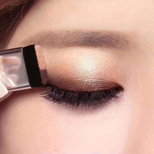 Two-color lazy eye shadow plate masonry flash palette disc waterproof glitter cosmetics