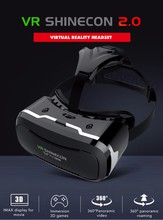 Shinecon VR 2.0 3D Virtual Reality Glasses Headset Immersive Helmet vr box Head Mount For 4.7-6′ Phones + Remote Controller