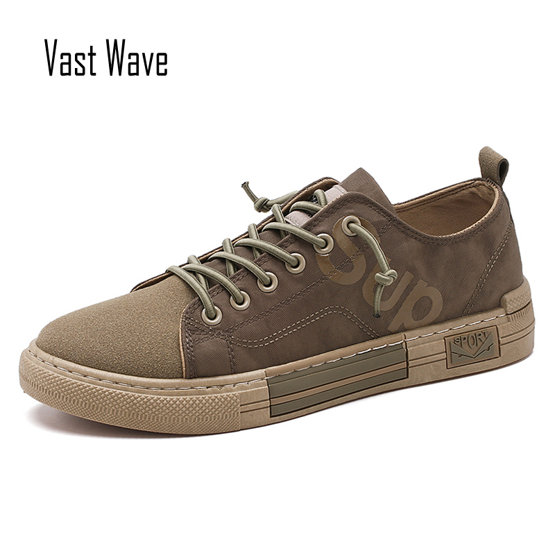 VastWave Canvas Fabric Man Sneakers Shoes Slip Resistance Autumn Luxury Men's Casual Shoes Flats Male Vulcanize Shoes Men