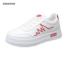 RGKWXYER New Womans Flat Shoes Student Small White  Comfortable Ladies Shoe Wild Platform Female zapatos mujer 2019