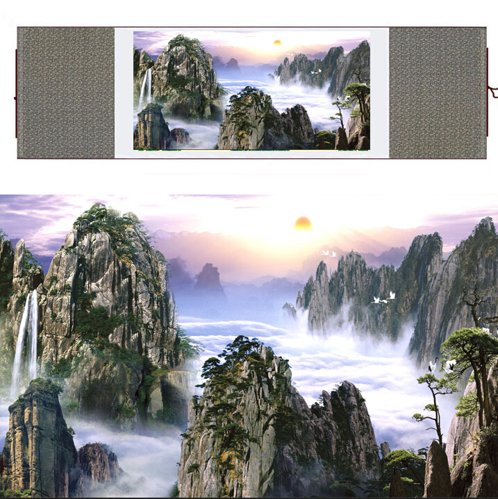 Mountain and River art painting Chinese traditional landscape mountain and river painting