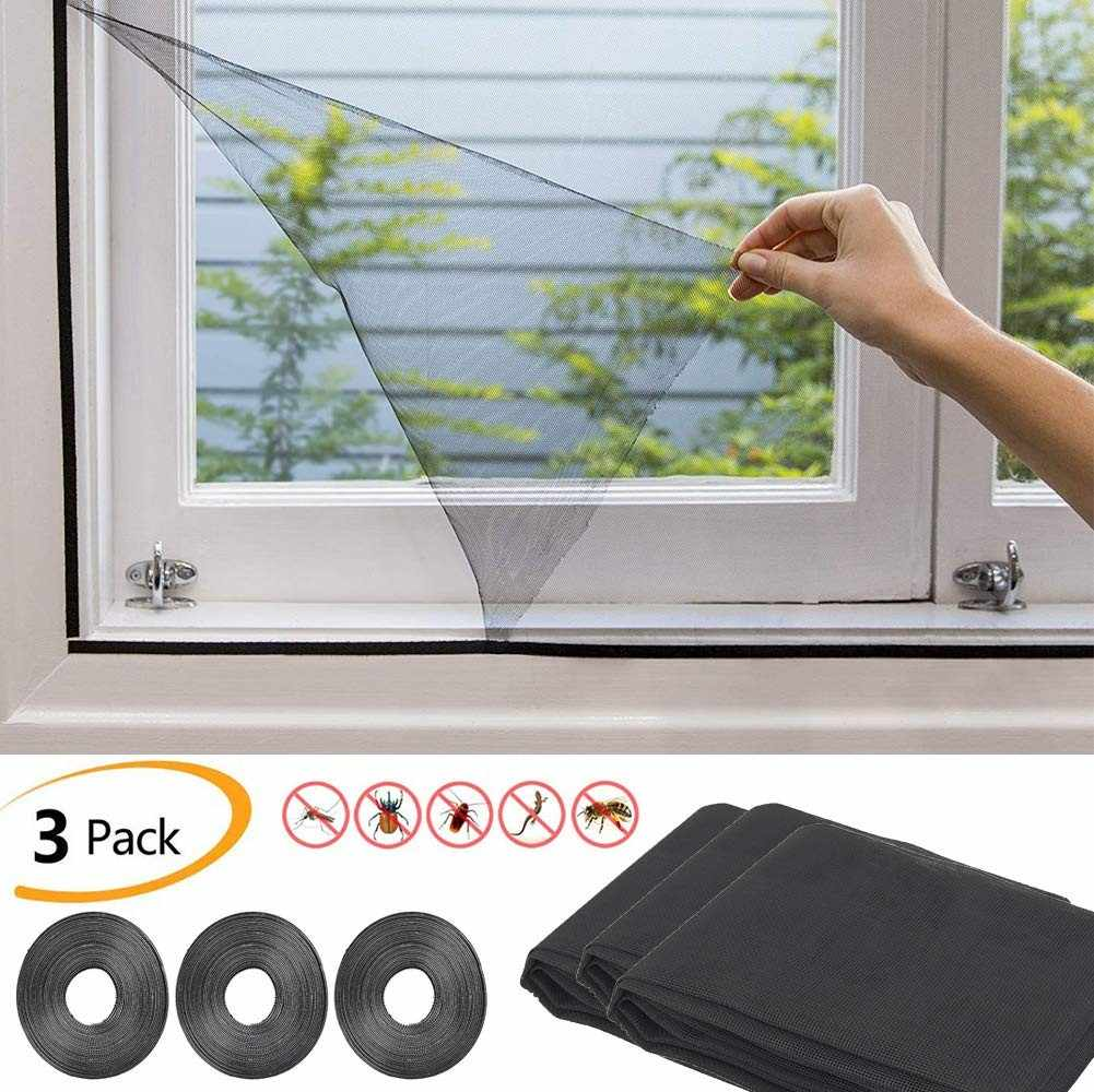 2019 New Insect Fly Mosquito Window Net Netting Mesh Screen Sticky Tape #NN516