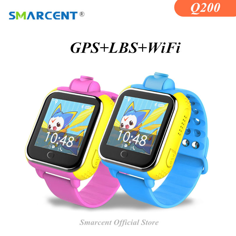 SMARCENT Q200 Q730 GPS Baby Smart Watch Clock Kids Wifi Tracker Smartwatch for IOS Android Children