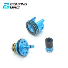 FightingBro 8 Löcher Kolben Kopf Stille Luft Düse Zylinder Kopf Für Ver.2 M4 Airsoft AEG Split Gel Getriebe Jinming8 Jinming9
