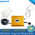 1 Unidades GSM850/UMTS 1900 MHz 65dB Doble Banda Celular Repetidor de Señal Móvil LTE Booster Amplificador Independiente para AT & T VERIZON