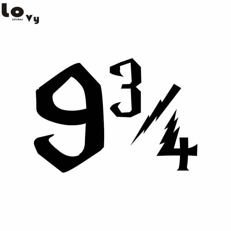 Classic Movie Harry Potter Platform 9 3/4 Quarters Sign Numbers Vinyl Wall Sticker for Kids Room Bedroom Home Decor