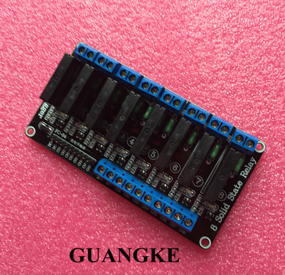 1pcs 8 Channel 5V DC Relay Module Solid State High Level SSR AVR DSP1pcs 8 Channel 5V DC Relay Module Solid State High Level SSR AVR DSP