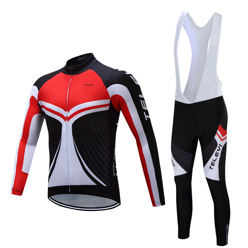 Mens Cycling Jersey Set 2018 Pro Team Cycling Clothing Long Sleeve Bike Clothes MTB Bicycle Gel Pad Bib Pants Clothing