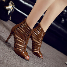 35 Size Women Summer Pumps Girl Cut-Outs Thin High Heel Shoes Student Pointed Toe Casual Buckle Shoe Peep Toe New Fashion Sandle
