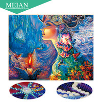 2016 New 5D Diamond Embroidery Bizarre GoddessHobby Diamond Painting Mosaic Painting 3D Pictures Needlework Crafts Decoration