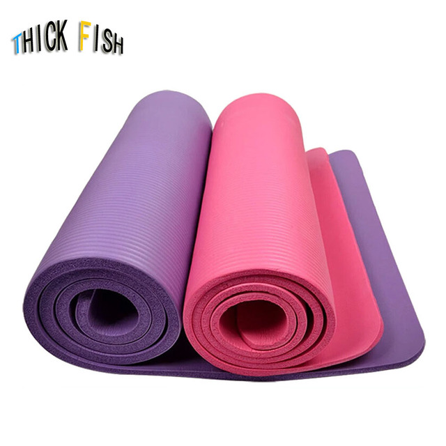 10mm Thick exercise Yoga Mat Pad Non-Slip Lose Weight Exercise Fitness folding gymnastics mat for fitness
