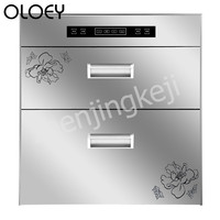 Disinfection Cabinet Embedded Small Kitchen Cupboard Double Layer Front Open High Temperature Disinfection Dual Mode Ozone