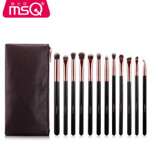 12pcs Eyeshadow Makeup Brushes Set Pro Rose Gold Eye Shadow Blending Make Up Brushes Soft Synthetic Hair For Beauty MSQ