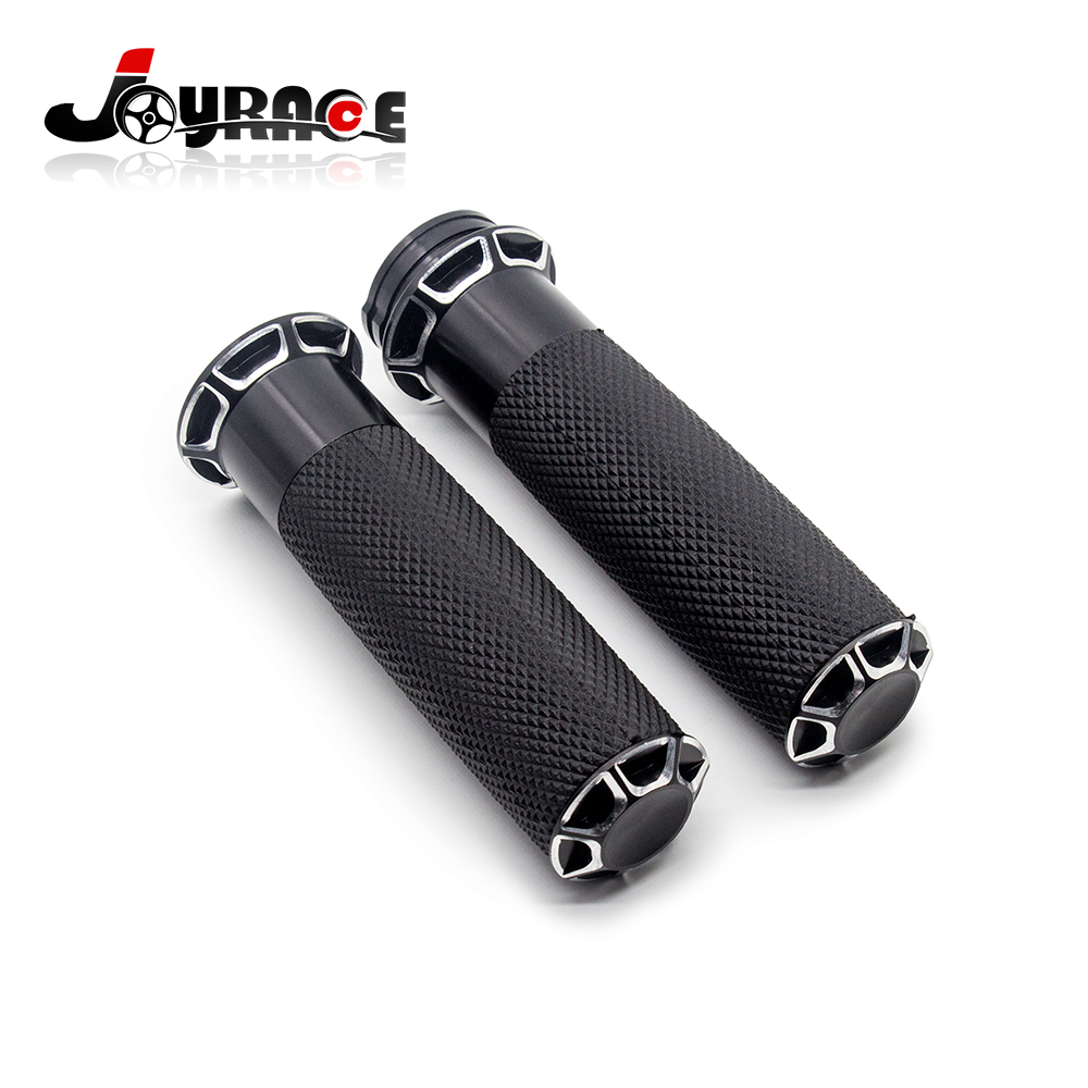 1 quot Handlebar Beveled Fusion Hand Grips For Harley Softail Sportster 1200 in Grips from Automobiles amp Motorcycles