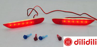 LED Rear Bumper Reflectors Lights Lamp For Leaf Pathfinder Rogue X Trail X Trail JX35 QX56