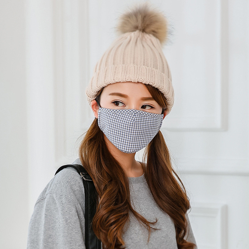 10pcs Autumn And Winter Fashion Dust-proof Thermal Masks Absorbent Cotton Out Cycling Riding Breathable Masks Winter Cotton