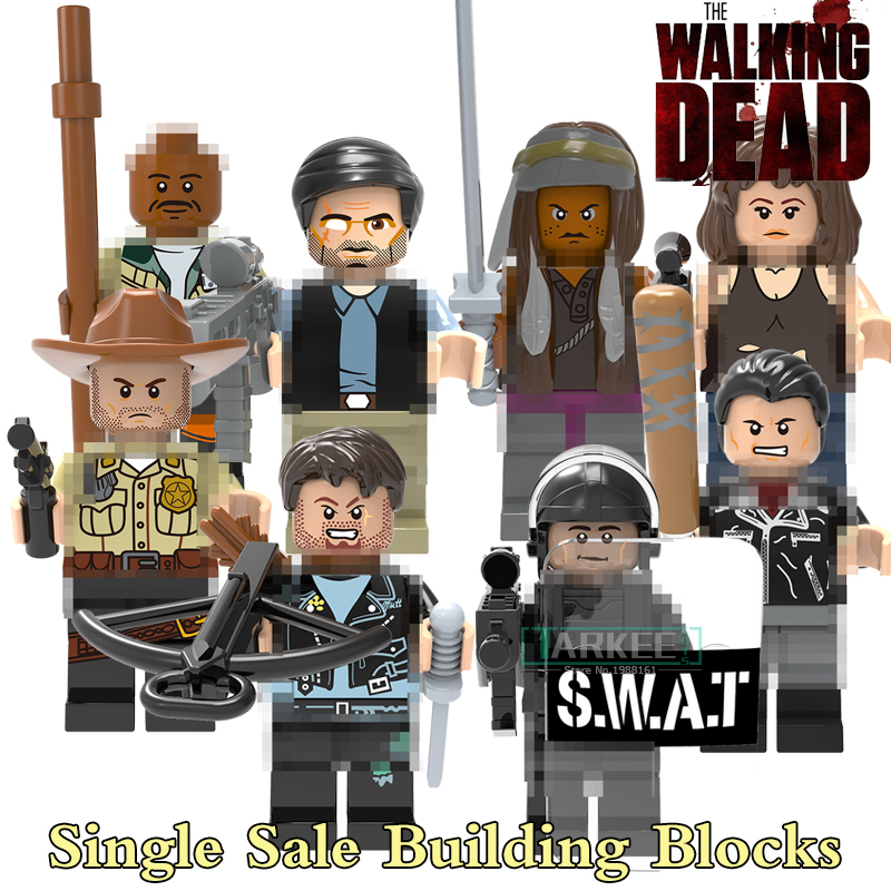The Walking Dead Figures X0156 Action Building Blocks Michonne Daryl Dixon Maggie Green Morgan Rick Grimes Negan Diy Bricks Toy building blocks the walking dead figures rick negan carl daryl star wars super heroes set assemble bricks kids diy toys hobbies