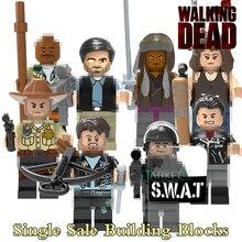 The Walking Dead Figures X0156 Action Building Blocks Michonne Daryl Dixon Maggie Green Morgan Rick Grimes