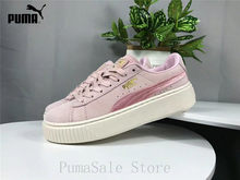 79e84bbf0466 2018 New Arrival Puma Basket Suede Women Shoes Thick Bottom Rihanna Sneaker  Wn s Badminton Shoes Size
