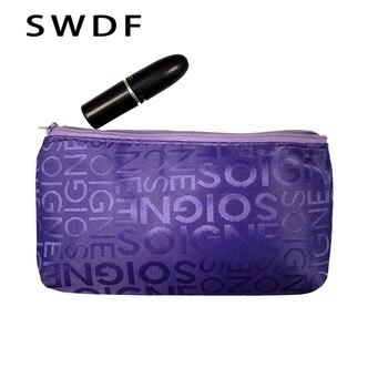 Women Portable Cute Multifunction Beauty Zipper Travel Cosmetic Bag Letter Makeup Bags PouchToiletry Organizer Holder Beautician