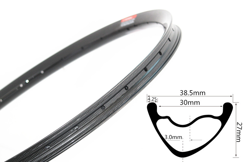 DH AM enduro downhill rines 38,5mm wide 27.5er rines par 28 32 agujeros 3mm offeset asymmetric rines tubeless compatible
