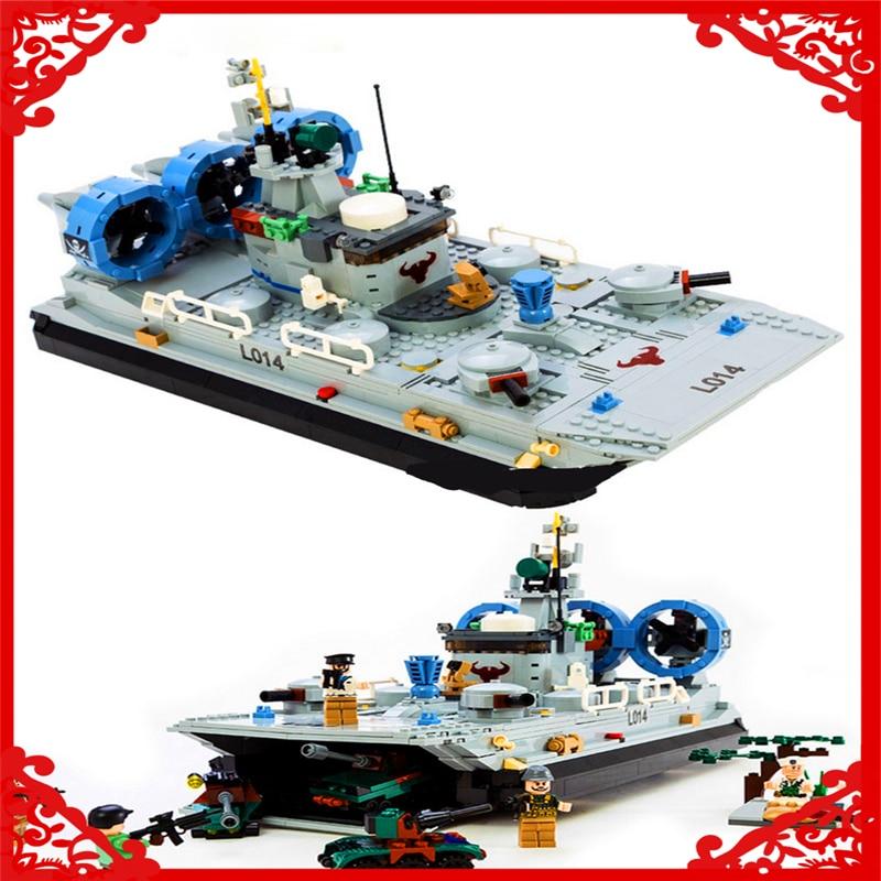 GUDI 8027 Building Blocks Military Marine Cops Hovercraft 928Pcs Bricks DIY Figure  Toy Gifts For Children Compatible Legoe decool 3117 city creator 3 in 1 vacation getaways 613pcs bricks building blocks diy toy gifts for children compatible legoe