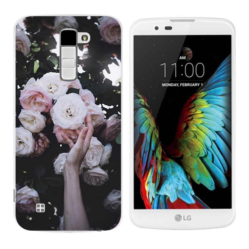 Tpu Cassa Del Telefono per LG K10 K 10 LTE K420N K430 K430DS 5.3 Triangolo Stampa Della Copertura Posteriore per LG K10 Coque per LG K 10