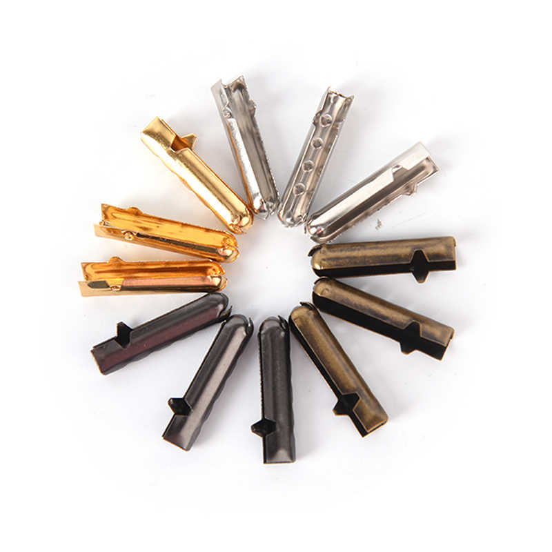 Горячая продажа 10 шт. DIY шнурки ремонт наконечники для шнурков Замена конец металлические аглеты