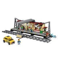 LEPIN City Train Station Building Blocks Sets Bricks Classic Model Kids Toys For Children Technic Gift
