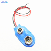 10Pcs Blue I Type 9V PPP3 Battery Wire Junction Snap Clip Case Socket With Wires