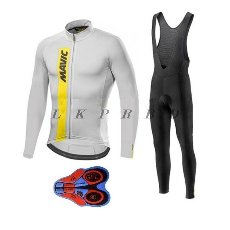NEW Mavic 2018 Autumn Men Cycling Set Long Sleeves Cycling Jerseys Set Breathable Bike Clothes Cycle Wear Ropa Maillot Ciclismo new 2018 cycling jerseys men s maillot ropa ciclismo short sleeves clothes men bike bicycle t shirts slim fit quick dry t shirts