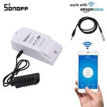 Sonoff TH16 Smart Wifi Interruttore di Monitoraggio di Umidità di Temperatura Wifi Smart Switch Home Automation Kit Funziona Con Alexa Google Casa