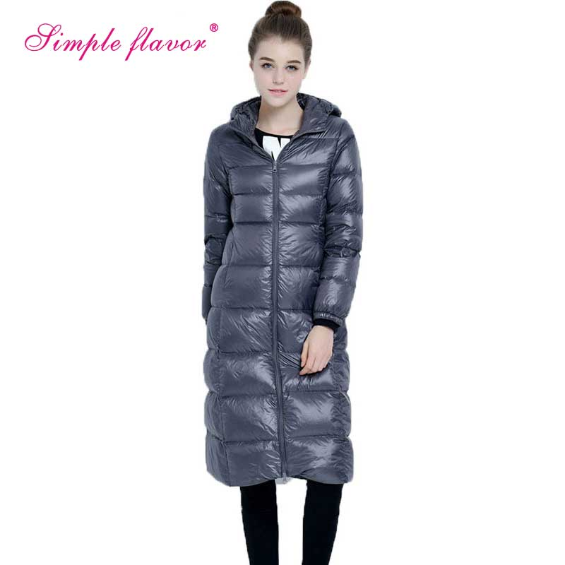2017 New Brand Ladies Winter Warm Coat Plus Size Ultra Light Long White Duck Down Jacket Women Hooded Jackets Outwear BF795 ladies consultation coat white size 14 1 each model 88018qhw14