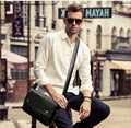 New Men Casual Single Shoulder Bag Designer Leather Messenger Bag Business Envelope Bags Schoolbag Cross Body Bag for Men
