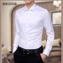 5XL Новый Для мужчин эксклюзивная Рубашки праздничное платье для свадьбы рубашка с длинными рукавами шелка Смокинг Рубашка Для мужчин Мерсеризованный хлопковая рубашка Высокое качество Горячая