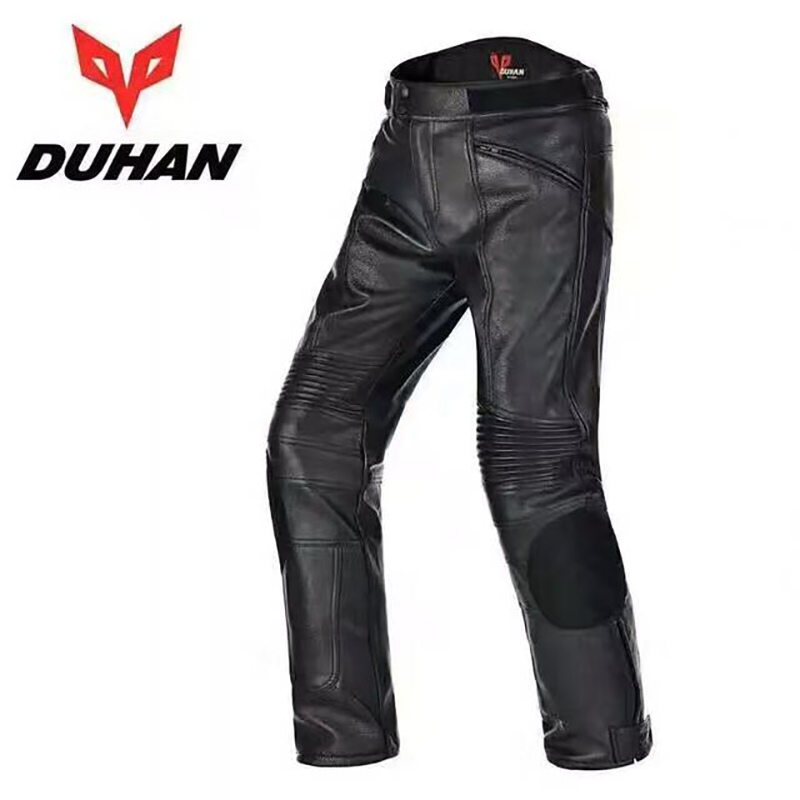 Brand DUHAN Men s Motorcycle Waterproof PU Leather Trousers Motocross Drop Resistant Riding Racing pants