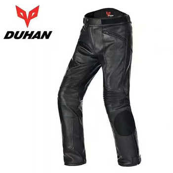 Brand DUHAN Men\'s Motorcycle Waterproof PU Leather Trousers Motocross Drop Resistant Riding Racing pants - DISCOUNT ITEM  39 OFF Automobiles & Motorcycles