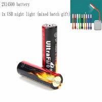 Ultrafire 14500 batterie 900mAh 3 7 V lithium ionen akku taschenlampe laterne lade bank batterie luz USBLED nacht licht-in Tragbare Beleuchtung Zubehör aus Licht & Beleuchtung bei