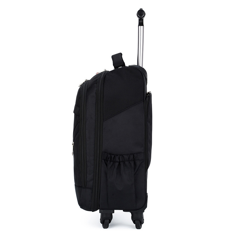 Swiss Brand Suitcase With Wheels Trolley Bag Oxford Backpack Dual Use 16 18 Inch Computer Travel Luggage