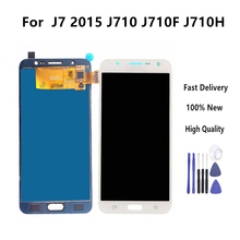 5.5'' LCD Display for SAMSUNG Galaxy J7 2016 Display Touch Screen For SAMSUNG J7 2016 J710 J710F Display Assembly Replacement все цены