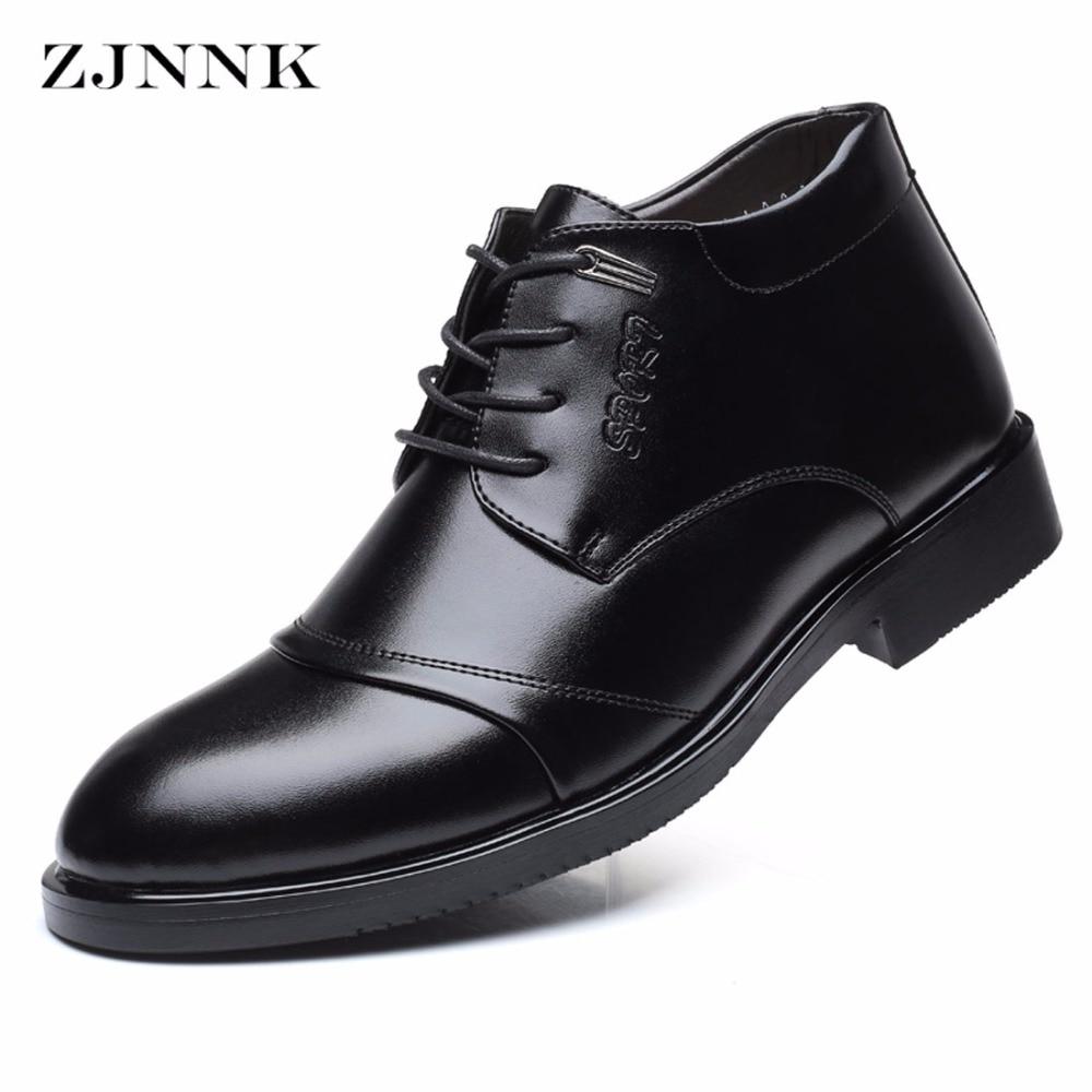 Zjnnk Famous Brand Warm Men Dress Shoes Business Leather Mens Winter Shoes Fashion Designer Luxury Men S Black Brown Shoes Male Shoe Male Shoes Brandshoes Brand Designer Aliexpress