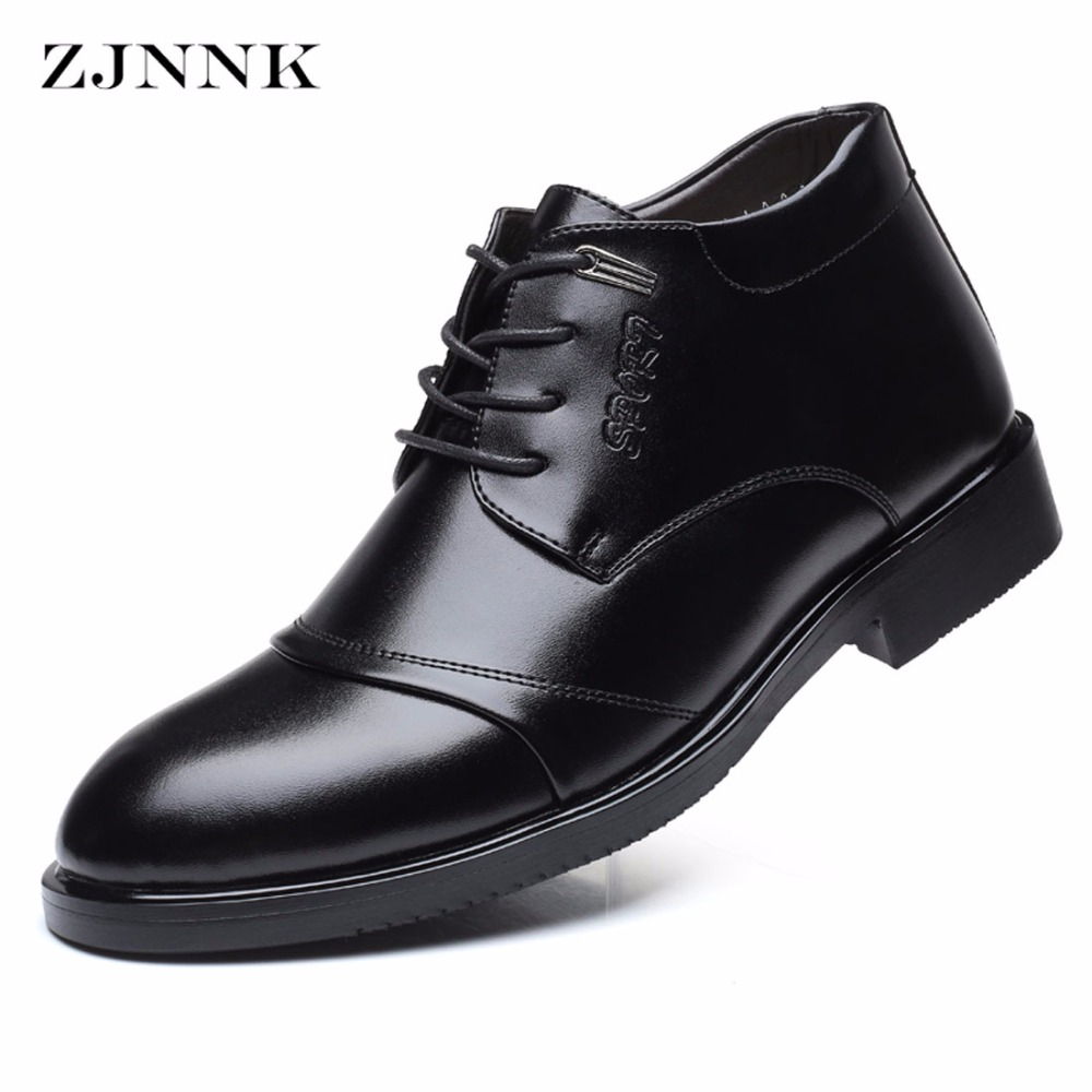 ZJNNK Famous Brand Warm Men Dress Shoes Business Leather Mens Winter Shoes Fashion Desig ...