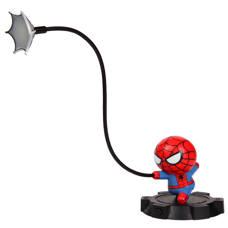 Spider man, Captain America doll LED lamp пластилин spider man 10 цветов