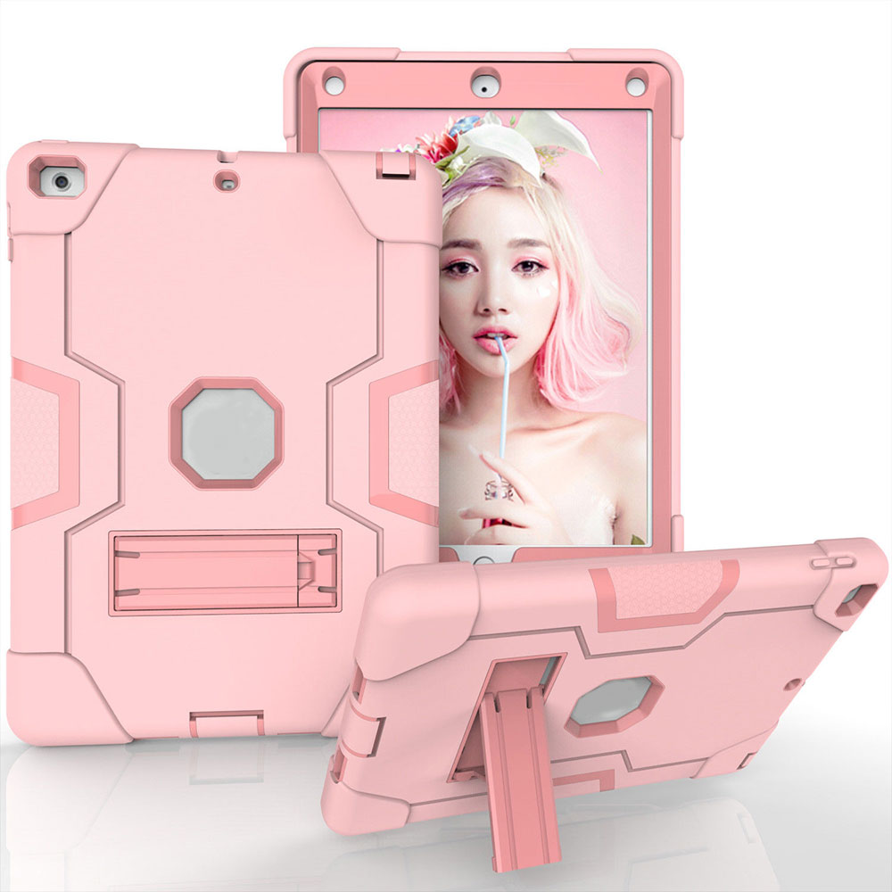 PC+ силиконовый защитный чехол для планшета универсальный для 18/17 Ipad 9,7 кожа прочный - Цвет: Rose Gold